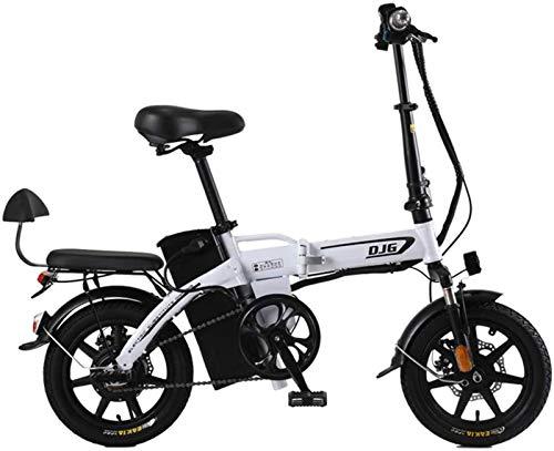 Bicicleta eléctrica de nieve, 14 pulgadas plegable bicicleta eléctrica 48V240w20ah puro eléctrico Resistencia 70 kilometros 80 km de aleación de aluminio que absorbe los golpes neumáticos sin cámara f