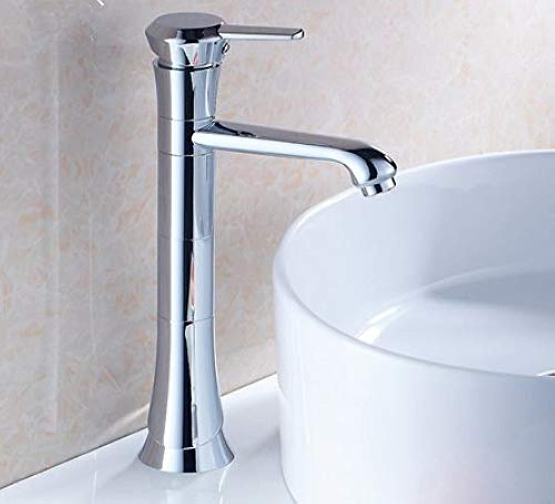 360 ° drehbarer Wasserhahn Retro Wasserhahn Waschbecken Wasserhahn 360 Grad-Umdrehung Hohe Stil Chrom Messing Einhand-Kaltwasserhahn Mischer