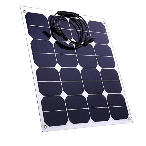 WXJHA Cell Alta eficiencia de los Paneles solares 50W Sunpower Flexible 12V Solar monocristalino Precio Panel Solar de Alta eficiencia PV Cargador de batería para Barcos RV