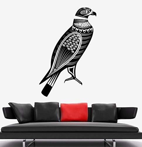 3D Birds Eagle Predator Tribal Ornament Mural Om Wall Stickers Home Decor Living Room Art Murals Decals Flower 56X88Cm