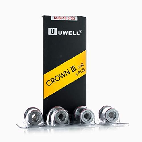 [100% Authentisch [4 + 1 angeboten DansLesVapes] 5er Pack Verdampferköpfe UWELL Crown 3 III 0.5 ohm oder 0.25 ohm oder 0.4 ohm verdampfer ersatzverdampferkopf