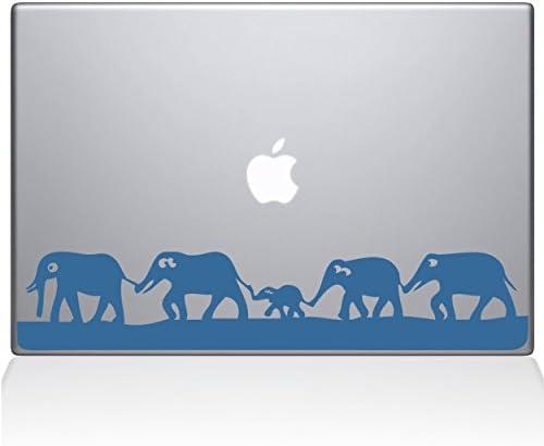 The Decal Guru Elephant March MacBook Decal Vinyl Sticker 13 MacBook Air Light Blue 0152 MAC product image