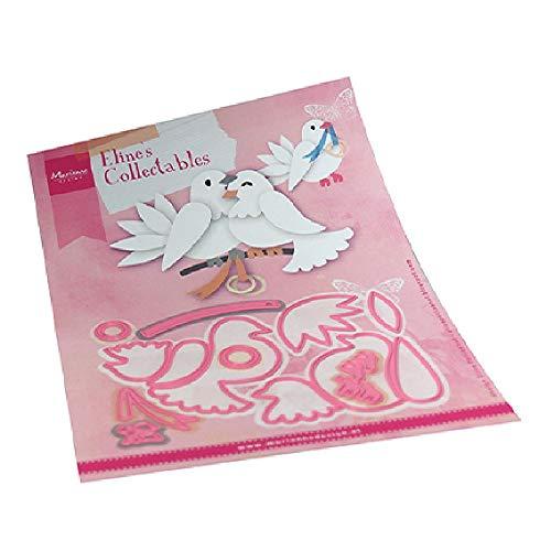 Marianne Design Collectables Fustelle, piccioni, Estate Indiana, per Taglio e Goffratura di Disegni Comples, Rosa, Unica