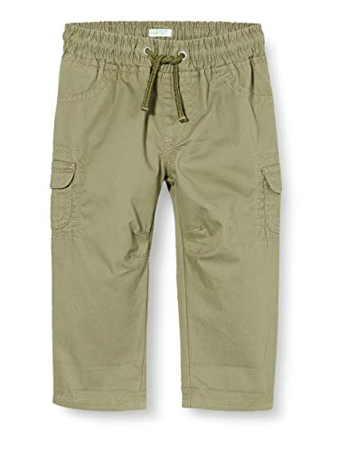 United Colors of Benetton Baby-Jungen Pantalone Hose, Grün (Four Leaf Clover 07n), 74