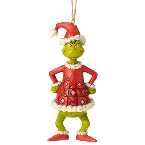 Enesco Dr. Seuss The Grinch by Jim Shore als Weihnachtsmann gekleidet, 14 cm, Mehrfarbig