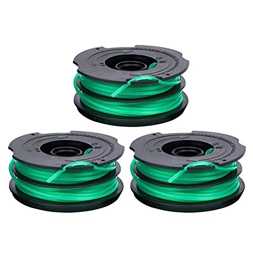 USA-Supply Premium String Trimmer Spools Replacement for Black Decker GH1100 GH1000 GH2000 Weed Eater DF-080 Replacement Spool Line Dual Line Edger Parts 30ft 0.080' Auto-Feed Spool (3 Pack spools)