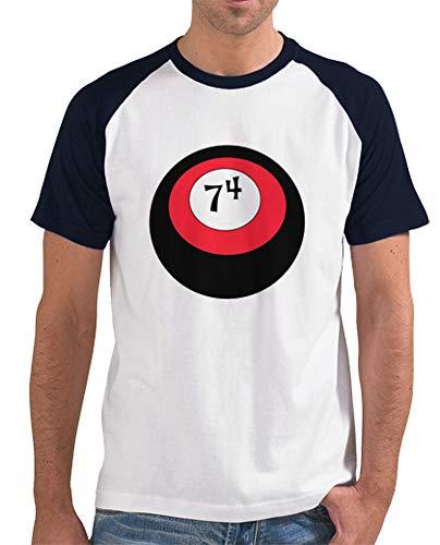 latostadora - Camiseta Esfera Ao 74 para Hombre Azul Marino XXL