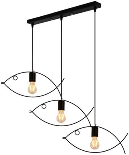 ZLIANG en Fer forgé Lustre Petit Poisson lustres réglable Moderne Minimaliste Salon Restaurant vêteHommests Boutique Bar Cafe Pendentif Lampe [Classe d'énergie A + +],B