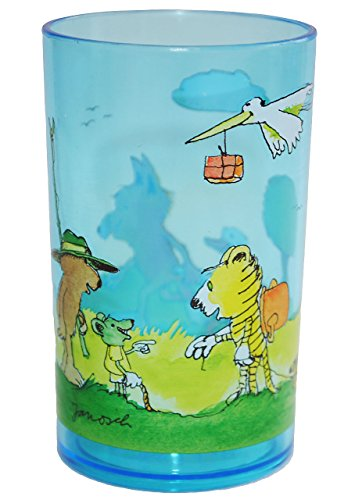 alles-meine.de GmbH Janosch / Tigerente - Tiger & Bär  - 3 in 1 - Trinkbecher / Zahnputzbecher / Malbecher - Becher durchsichtig - Trinkglas aus Kunststoff Plastik - Mädchen &..