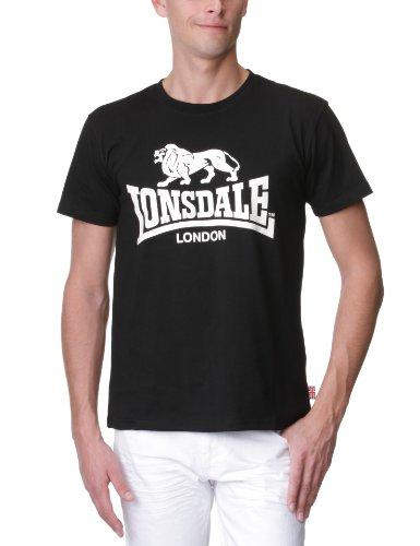 Lonsdale Logo - T-Shirt Sportswear - Homme, Noir (black), FR: Medium (taille fabricant: Medium)