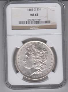 1885 O Morgan Silver Dollar $1 MS-63 NGC