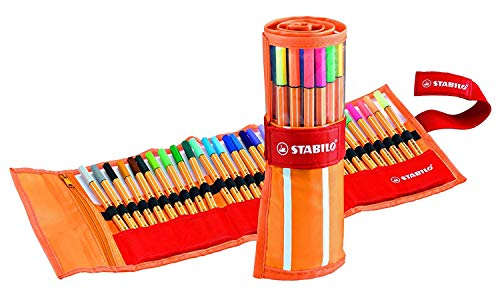 Fineliner - STABILO point 88 - Rollerset con 30 Colori assortiti