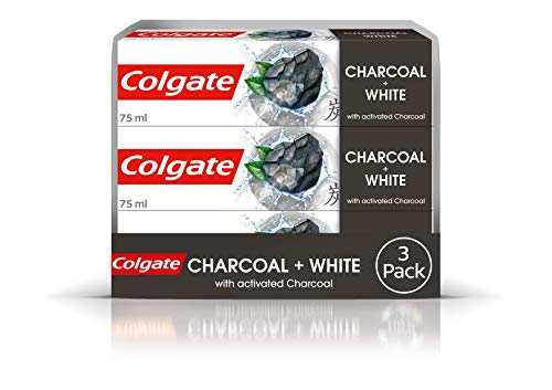 Colgate Natural Extracts Charcoal Toothpaste, Whitening Toothpaste, 75 ml, Triple Pack