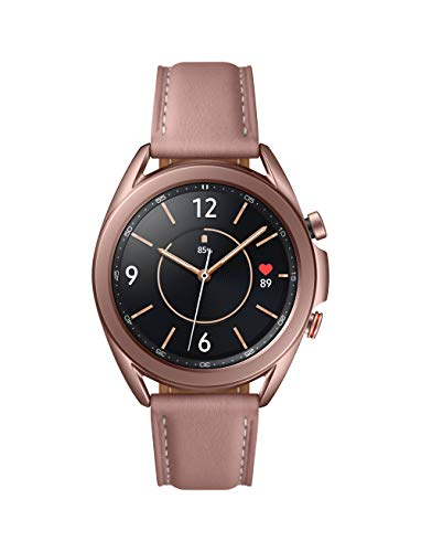 SAMSUNG Galaxy Watch 3 (41mm, GPS, Bluetooth, Unlocked LTE) Smart Watch with Advanced Health Monitoring, Fitness Tracking, and Long lasting Battery - Mystic Bronze (US Version)