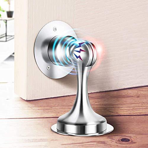 Door Stopper, 2 Pack Magnetic Door Stops, Door Catch Stainless Steel, No Need to Drill - 3M Double-Sided Adhesive Tape, Keep Your Door Open, 2 Pack for Wide Doors