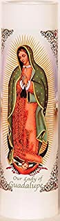Our Lady of Guadalupe | Virgen de Guadalupe | LED Flameless Prayer Candle with Automatic Timer | Veladora de Oracion Sin Llama | English & Spanish | Catholic/Religious Mothers Day Gift Idea