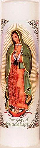 Our Lady of Guadalupe | Virgen de Guadalupe | LED Flameless Prayer Candle with Automatic Timer | Veladora de Oracion Sin Llama | English & Spanish | Catholic/Religious Idea