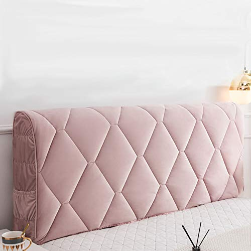 GEBIN Cubierta para Cabecero De Cama, Funda para Cabecero De Cama, A Prueba De Polvo, Protector De Cabeza De Cama, Color Sólido, Decoración De Dormitorio. (Pink,180CM)