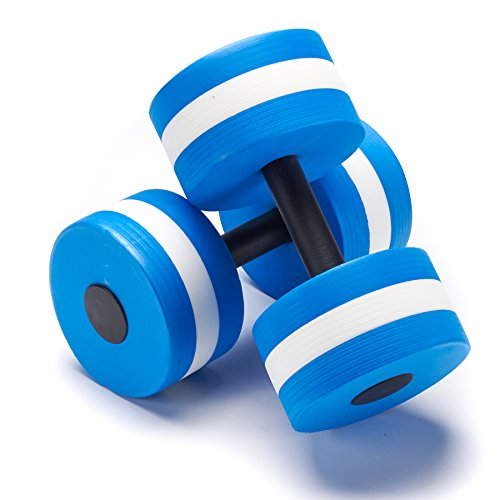Black Mountain Products Aquatic Exercise Water Dumbbells (Set of 2), Blue