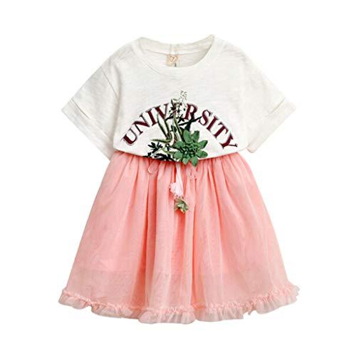 Tonsee Tenues pour Filles, Mignon Enfant Toddler Enfants Bébé Vêtements Lettre T-Shirt Tops + Jupe en Tulle 2PCS Ensemble