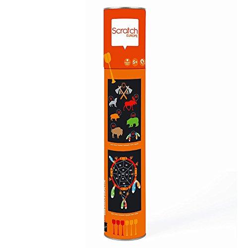 Scratch 276182018 Dartspiel Indianer, groß, magnetisch 276182018-Dartspiel für Kinder, Sportspielzeug