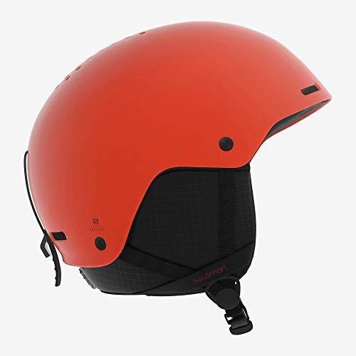 Salomon Herren Ski- und Snowboardhelm, ABS-Schale, EPS 4D-Innenschaum, Größe S, Kopfumfang 53-56 cm, Brigade, orange (orange Pop), L40537300