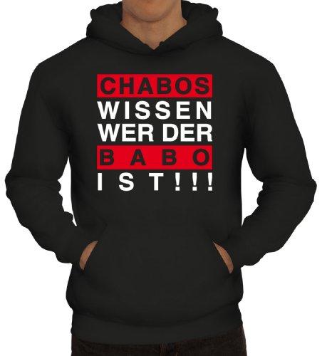 Shirtstreet24, Chabos wissen wer der BABO ist!!! Boss Herren Kapuzen Sweatshirt - Pullover Hoodie, Größe: XXL,Schwarz