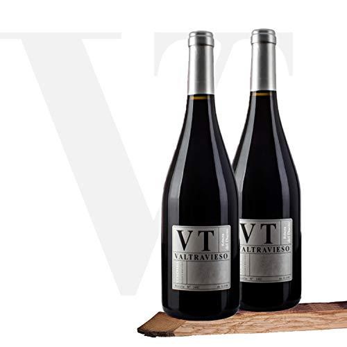 Valtravieso VT Vendimia Seleccionada Vino Tinto D.O Ribera del Duero Tinto Fino (75%) Cabernet Sauvignon (15%) y Merlot (10%) - Lote de 2 Botellas 750 ml, Total: 1500 ml