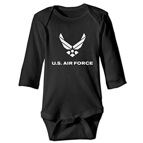SDGSS Ropa para bebés Bodysuits US Air Force Long Sleeve Baby Onesie Rompers Bodysuit for Toddler