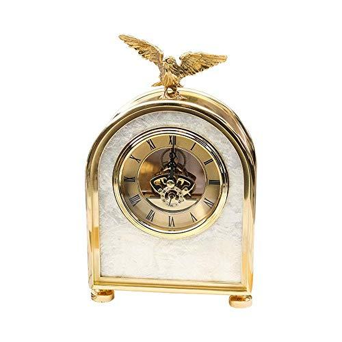 Reloj de Manto de Madera, silencioso, Decorativo, Esfera de números Romanos, aleación, Reloj para Chimenea, Reloj de Escritorio Retro, silencioso, batería de Escritorio, Regalo de decoració