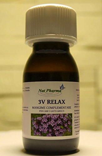 Nat Pharma - Italy 3V Relax 50ml Tranquillante Natural para Perros y...