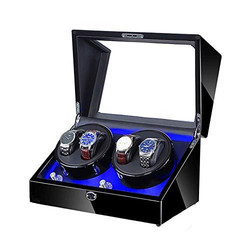ZCYXQR Caja enrolladora de Reloj automática 4 + 0 con Motor silencioso Mabuchi y luz LED Modelos de 5 rotación adecuados para Relojes de Pulsera para Hombres y Mujeres (Color: D)