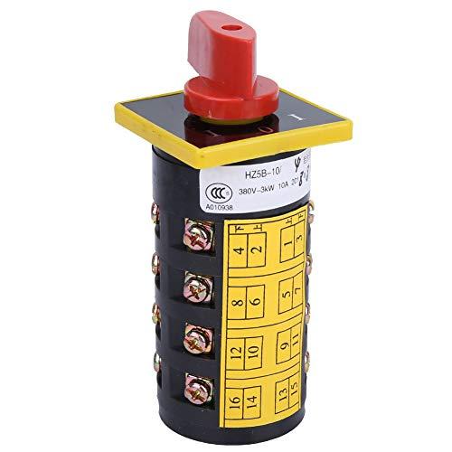 3 posiciones (1-0-1) Interruptor de cambio de 3 posiciones, interruptor de leva de 380 V, interruptores de enclavamiento Durable Fácil de usar Rendimiento estable Operación de cambio