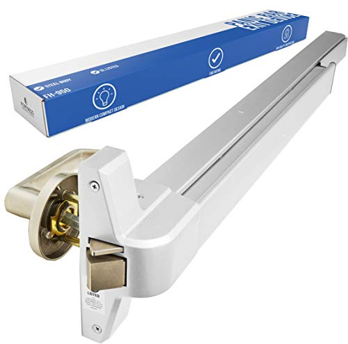Panic Bar Exit Device - Push Bar for Exit Doors & Exit Lever with Key - Aluminium Silver Finish - Fitting Instructions