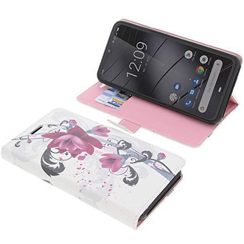 foto-kontor Tasche für Gigaset GS290 Book Style Lotus Blüte Schutz Hülle Buch