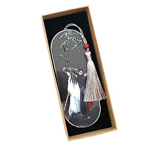 Zhongxingenggeng Segnalibro/Segnalibri/Preferiti Libro Marks- Segnalibro del Metallo di Stile Cinese Classico della Nappa/Buona Scelta Come Regalo di Compleanno, Regalo di Natale