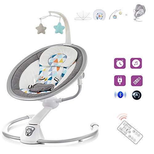 HSTD Babywippe, Babywippe Elektrisch, Baby Schaukel Elektronisch, mit Fernbedienung/Automatischer...