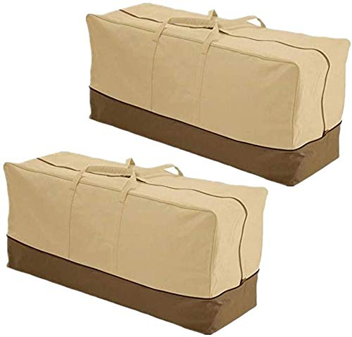 Yuansr Outdoor Furniture Cushion Storage Bag Extra Large 420D Oxford Cloth Dustproof Home Cover Storage Bags 60' L X 28' W X 20' H (Color : 2 Pack)