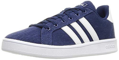 adidas Grand Court K, Scarpe da Tennis Unisex-Bambini, Blu Scuro/Bianco Ftwr/Grigio, 34 EU