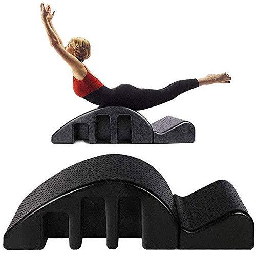 Hammer Pilates Spine Corrector, el Dolor de Espalda Alivio de alineación de la Columna Vertebral de la vértebra Cervical Yoga Corrector, Negro