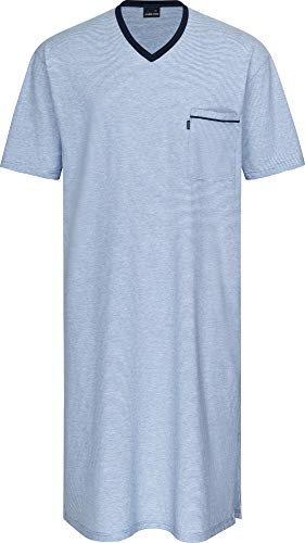 Herren Nachthemd kurzarm Blau 56