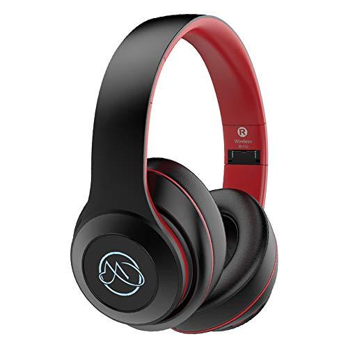 Bluetooth 5.0 Kopfhörer Kabellos Over Ear Wireless HiFi Kopfhörer mit Geräuschunterdrückung Ohrpolster,20 Std Spielzeit, Drahtlose Headset für Sport Smartphone/PC/Fernseher(MEHRWEG)