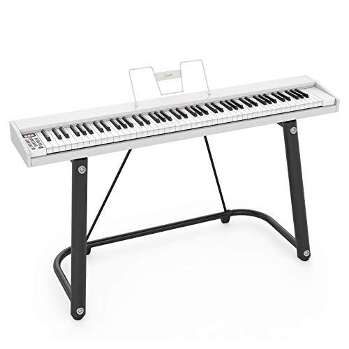 LAGRIMA LAG-610 Full Size Key Portable Digital Piano, 88 Key Electric Keyboard...