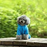 Capa de perro Caliente del invierno de la chaqueta abajo persigue mascotas Perros del perrito del traje de peso ligero cuatro patas con capucha ropa de abrigo for oso de peluche grande Combinaison esq