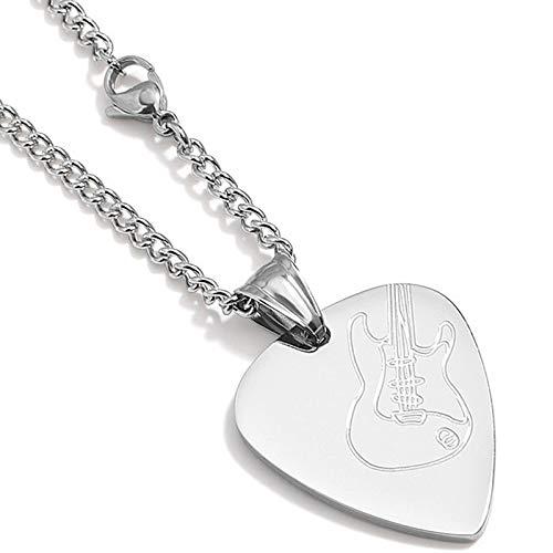 XIRENZHANG Collares Boys', selecciones de la Guitarra Personalidad Decoraciones de la Cadera de los Colgantes de los Hombres de Moda Hip Corto Colgantes Collares de Moda Twisted Piece Chain