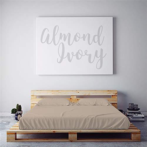 Night Sweats: PeachSkinSheets Almond Ivory 1500tc Soft Sheet Set - Regular King