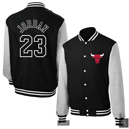 Toros 23# Jordan béisbol Uniforme de la Chaqueta con Capucha de la Capa del suéter de algodón 3 Colores,Negro,XL
