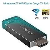 ワイヤレスディスプレイレシーバー、WIFIディスプレイドングル、フルHD 1080P 5G + 2.4G TVスティック、IOS/Android/Mac用HDMIアダプター