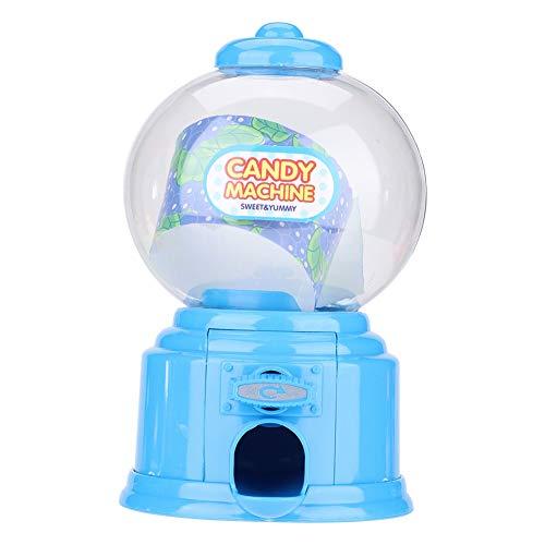 Máquina de chicles de plástico, máquina portátil de caramelos para niños, dispensador de chicle rojo, novedad, divertido, favor de fiesta de cumpleaños para niños y niñas(Azul)