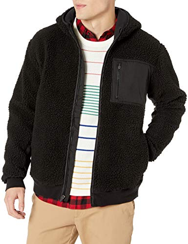 RVCA Herren Knoll Sherpa Jacket Fleecejacke, schwarz, Small